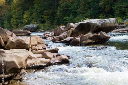 Printed kitchen splashbacks River View of Cheat River rapids near Albright