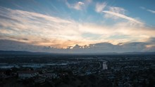 Day To Dusk San Fernando Valley Timelapse Near Los Angeles, California
