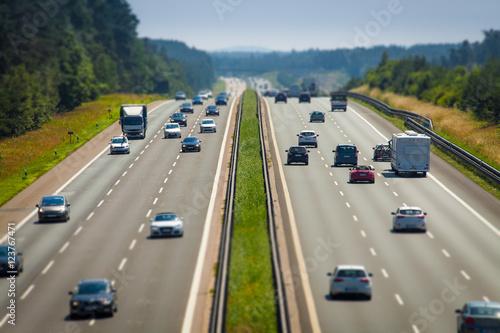 Fotografía  Individualverkehr Autobahn PKW Selbstfahrer BAB 9 Teststrecke Unschärfe