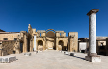 Ruins Of The 18th Century Church Destroyed By The Earthquake In 1968 In Salemi, Sicily