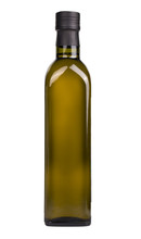 Olive Oil Bottle Isolated On The White