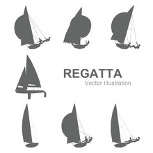 Sailboat Vector Illustration