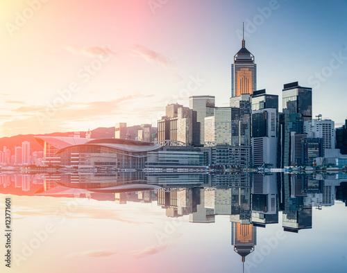 Foto auf Leinwand Hongkong Hong Kong city