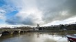 Angers, France Cathedral and River Day Timelapse