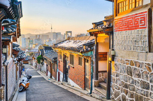 Traditional Korean style architecture at Bukchon Hanok Village