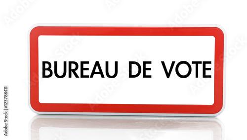 Panneau Bureau De Vote Buy This Stock Illustration And