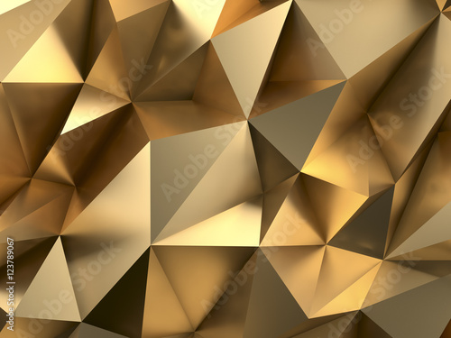 Fotografia  Rich Gold Abstract Background 3D Rendering