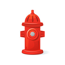 Icon Fire Hydrant, Vector Illustration