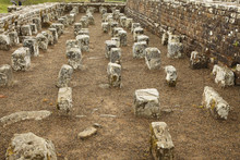 Ruins Of A Granary At The Roman Fort On Hadrian's Wall