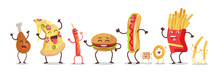 Set Of Fast Food Products Vect...