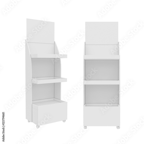 Fotografie, Obraz  stand Isolated on White Background, 3D rendering