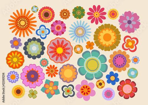 Fleurs des années soixante-dix (part 4) Wallpaper Mural