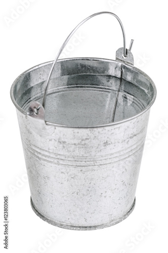 metal bucket with water Wall mural