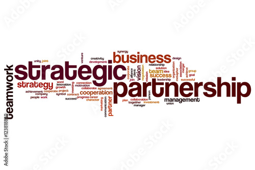 Fotografía  Strategic partnership word cloud