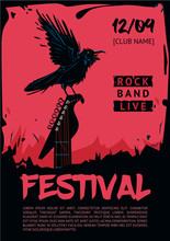 Music Poster Template For Rock...