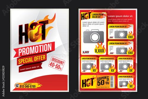 Advertising Design Template Vector Illustration Acheter Ce