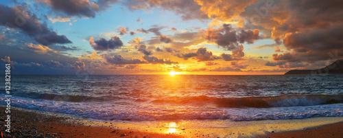 Poster Mer coucher du soleil Sea