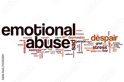 Fotografie, Obraz  Emotional abuse word cloud