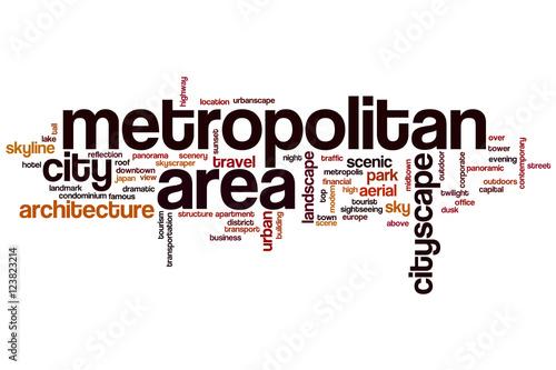 Fotografía  Metropolitan area word cloud