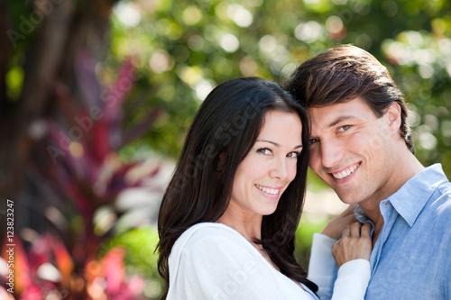 Young Couple Engagement Portrait Poster
