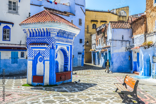 Papiers peints Maroc Beautiful blue medina of Chefchaouen city in Morocco, Africa.