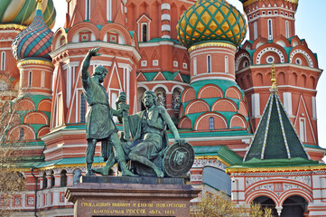 Fototapeta na wymiar Saint Basil Cathedral in Moscow, on the Red Square.