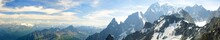 Panoramic Landscape Of Mountain Range Of The Mont Blanc