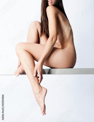 Fototapeta woman legs care - concept obraz na płótnie