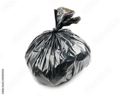 Fototapety, obrazy: Black garbage bag