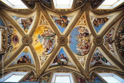 Fotografie, Obraz  chiesa soffitto