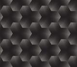 Wektor bez szwu czarno-biały wzór punktowania gradientu półtonów - 123839627