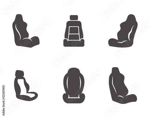 Tablou Canvas Car seat icons