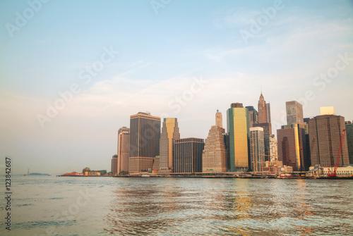 Foto op Canvas Rotterdam Manhattan cityscape