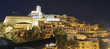 night view of the old city of Ibiza, Spain