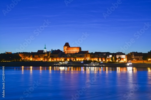 Torun city night view