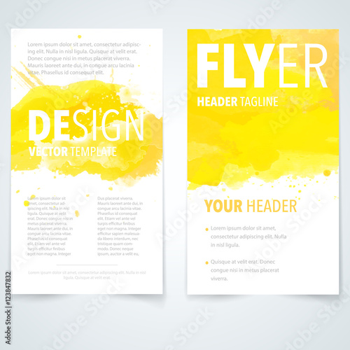 Staande foto Retro sign Brochure design template vector.Flyers report business watercolor magazine poster. Cover book presentation portfolio.Cover brochure design a4 layout background