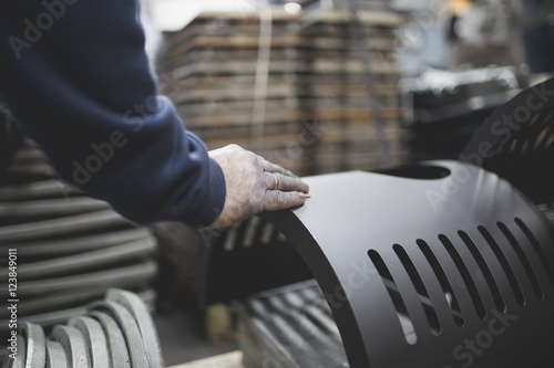 Factory for production heavy pellet stoves and boilers Tapéta, Fotótapéta