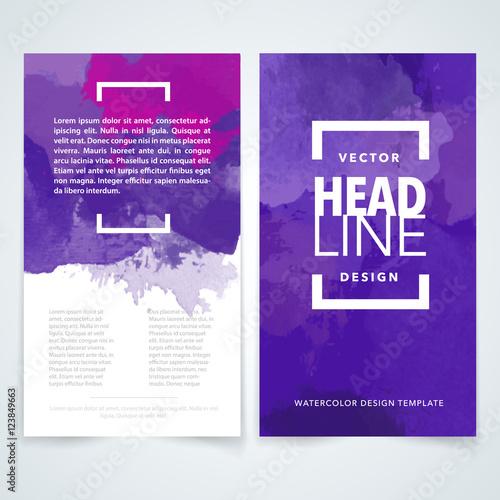 violet brochure design template vector flyers report business