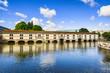 Strasbourg, barrage Vauban and medieval bridge Ponts Couverts. A