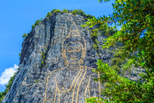 Khao Chee Chan The Largest Buddha Carved In The World With Trees