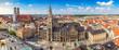 Leinwanddruck Bild - Munich city skyline panorama, Munich, Germany