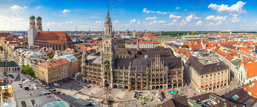 Munich city skyline panorama, Munich, Germany
