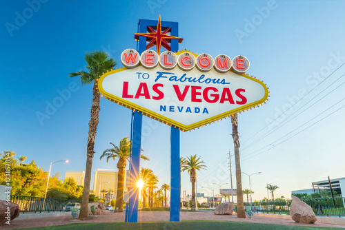 Canvas Prints American Famous Place Las Vegas sign