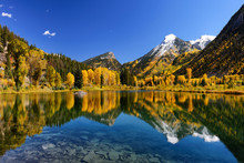Fall Color Reflection On Clear...