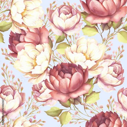 powtarzany-wzor-z-luksusowymi-rozami-recznie-narysowana-akwarela-ilustracja