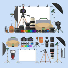 Vector Set Of Photography Isol...