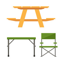 Colorful Wooden Camping Table ...