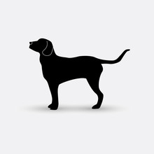 Vector Silhouette Of A Dog On ...