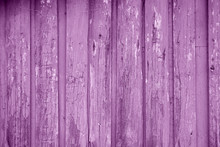 Purple Painted Wood Planks As Background Or Texture. Close-up