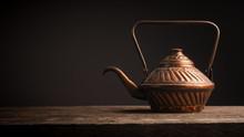 Old Used Copper Tea Pot